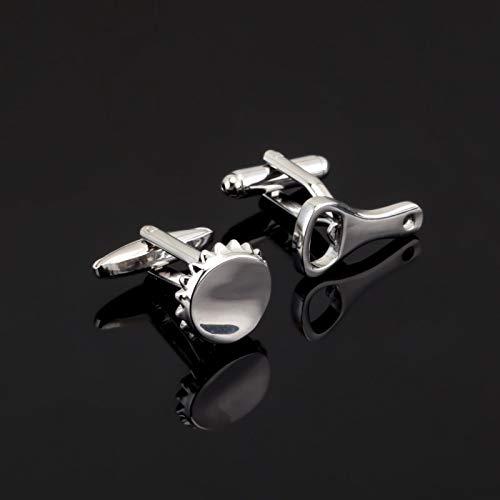 jiao Silber Flaschenöffnerkappe Manschettenknopf für Herrenhemd Markenanzug Manschettenknöpfe Manschettenknöpfe Schmuck