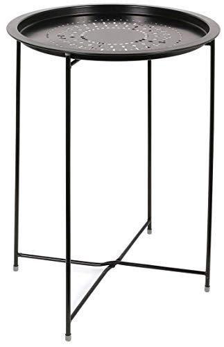 THE HOME DECO FACTORY Table D'Appoint Métal Noir, Fer, 47 x 60 x 47 cm