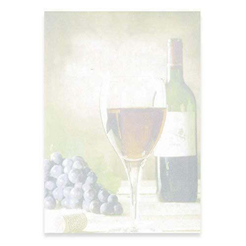 PapierDirekt - 100 Blatt Wein A4, Motivpapier zum Bedrucken, DIN A4, 100 g/qm