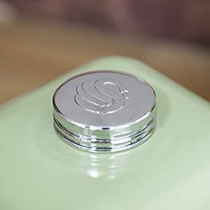 Swan Retro Kitchen Storage Canisters - Olive Green