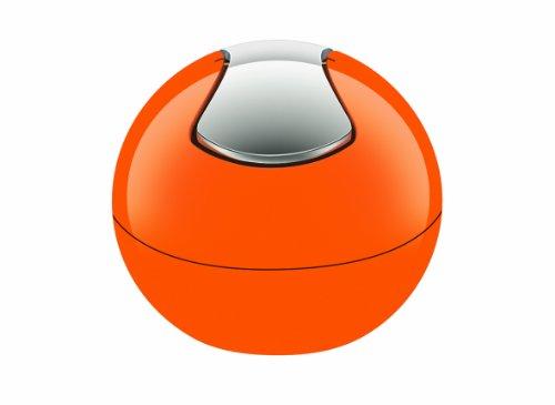 Spirella Kosmetikeimer 1 Liter Abfalleimer Schwingdeckeleimer Tischabfalleimer Bowl Orange