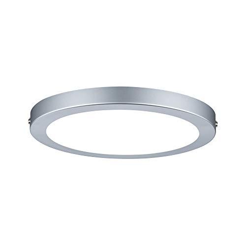 Paulmann 70864 Aufbaupanel LED Atria rund Deckenleuchte 18,5W Licht 2700K Warmweiß LED Panel Chrom matt dimmbar für Wand- und Deckenmontage