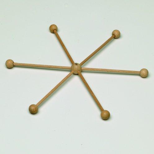 efco Mobile-Stern mit 13Teilen zum Puppenmachen, aus Holz, braun, 33cm Durchmesser