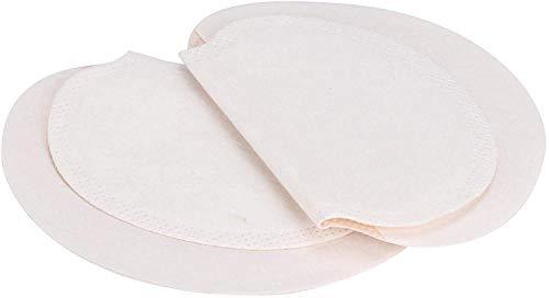 HautHome 100 piezas Desechables almohadillas para el sudor de axilas protección contra el sudor y desodorante manchas, Sudor Almohadillas puro del color es suave absorbent