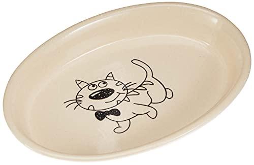 Nobby Katzen Keramik Schale oval creme / beige 17 X 11 X 2,5 cm