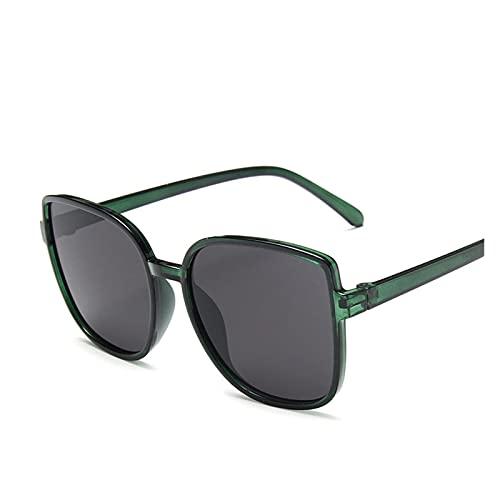 Mjwlgs Gafas de Sol para Mujer Moda Colorido Reflectante Mercurio Gafas de Sol de Gran tamaño Marco Redondo Gafas recubiertas a Internet al Aire Libre Celebrity recomiendo