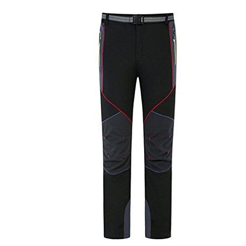 CIKRILAN Homme Respirant Quick Dry Wicking Élastique Pantalon Outdoor Sport Pantalons de Camping Randonnée Marche (Medium, Noir)