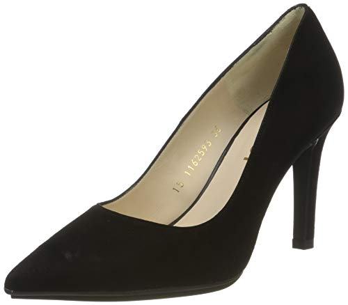 lodi Rachel-TP, Zapatos de tacón con Punta Cerrada Mujer, Negro (Ante Negro Ante Negro), 38 EU