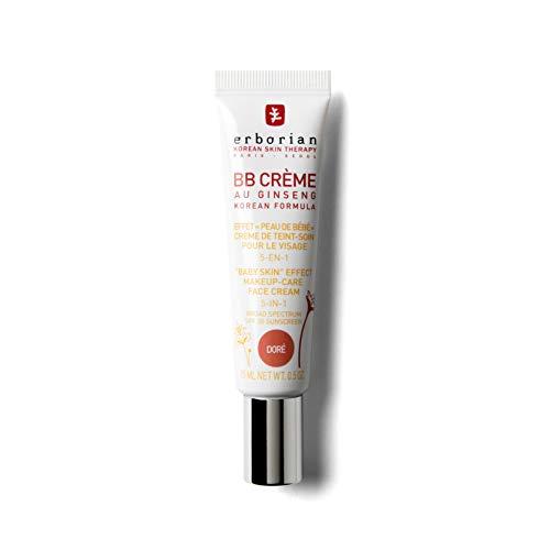 """Erborian - BB Crème au Ginseng - Teinte Dorée - Soin 5-en-1 pour le Visage, Effet """"Peau de Bébé"""" - SPF 20 - Soin du Visage Coréen - 15ml"""