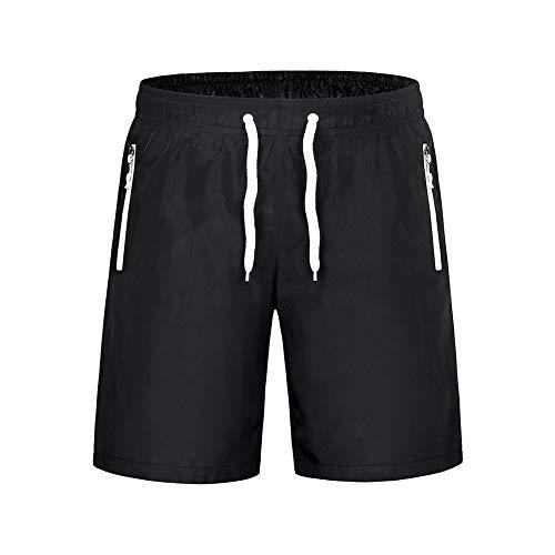 Xinvivion Herren Sport Shorts - Atmungsaktiv Aktiv Fitnessstudio Kurze Hose Badehose für Trainieren, Schwarz + Weiß, UK/EU/US/AUS/MEX 2XL=Tag 4XL