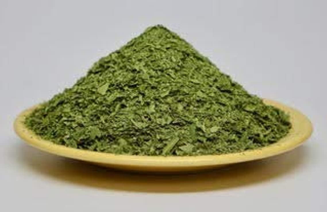 Neem Leaves Course Ground Tea Cut Organic 8 oz, Loose, Green, Wild Harvested Slow Dried Under Shade. Make Your own Tea Bags & Neem Leaf Extract. USA Horses Love Neem!