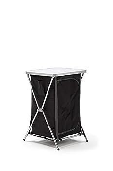 KitGarden Armoire de camping pliable, 60 x 52 x 88 cm, noir