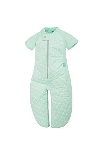 ergoPouch Schlafsack Baby, Sommerschlafsack, Strampelsack, Sommer, Wärmereguliering - Tog 1.0-100% Bio Baumwolle - Tog 1.0- Grün - 8-24 Monate (90 cm)