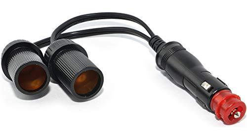 Baas Adapter DIN/Zig-Stecker zu 2X Zig-Steckdosen Ø21mm BA19, Unisex, Multipurpose, Ganzjährig, Kunststoff/Metall, schwarz