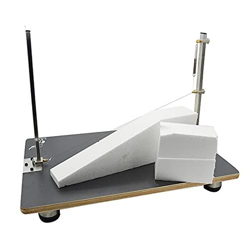 FRIBLSKEL Electric Foam Cutting Machine Polystyrene Cutting Knife 72W/450°C Can Cut Diagonally Benchtop Hot Wire DIY Model Carving Machine for Cutting Round Slicing Sponge KT Board