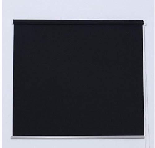 Estor Negro Liso Enrollable Opaco es Muy Sencillo Tanto en Techo como en Pared,para Salas,Salones,baños,Habitaciones,con un Alto de 180cm. (135, 180)