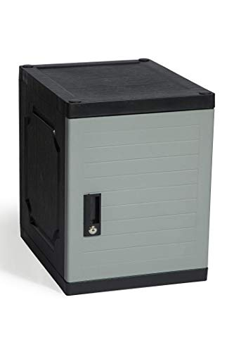 "Jink Locker - Lockable Storage Cabinet with Keys, 19"" - Great Locking Storage Box Solution for Home, Garage, Office or Outdoor (Gray)"