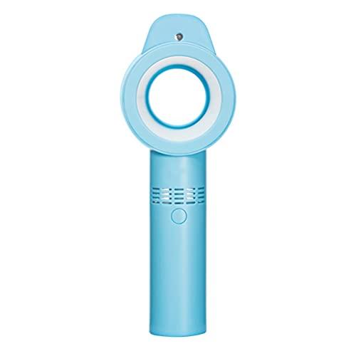 1 Pieza Ventilador de Mano Silencioso Portátil, Ventilador Personal Eléctrico USB Recargable, Sin Aspas de Ventilador, 3Modos, con 1800 mAh Batería Recargable, para Viajes Casa Oficina(Azul)