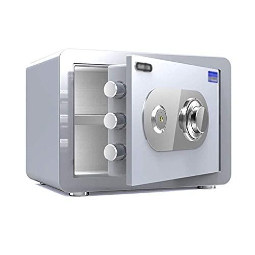 NCHEOI Cajas seguras Caja de Seguridad Caja Fuerte for Cajas seguras Cajas de Seguridad Cajas Fuertes de gabinete seguras for almacenar Objetos de Valor Forwbox Incluye 2 Claves de Emergencia