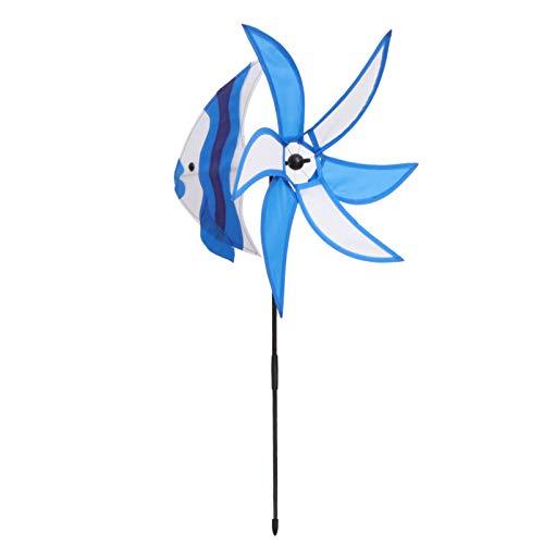YARNOW Garten Wind Spinner Fisch Form Dekorative Garten Pfähle Windmühlen Whirligig Rasen Hof Garten Dekorationen