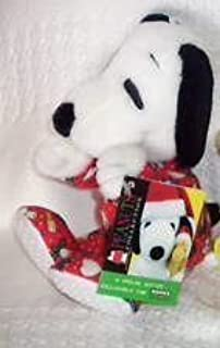Peanuts SNOOPY PLUSH Bean Bag KOHL'S Kohls RED CHRISTMAS PAJAMAS