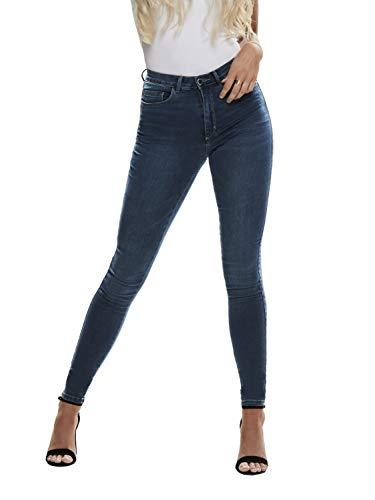 ONLY Damen Jeans ONLROYAL HW Skinny Jeans BB BJ13964 - Skinny Fit - Blau - Dark Blue, Größe:L - L 30, Farbe:Dark Blue Denim (15181725)
