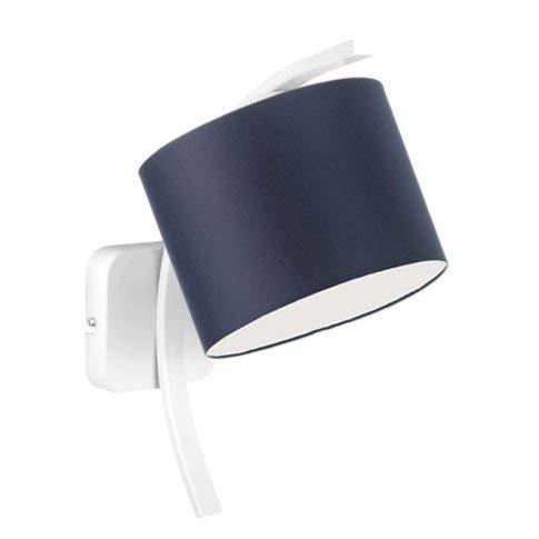 TEKSAS - Lámpara de pared con pantalla de lámpara, color azul marino