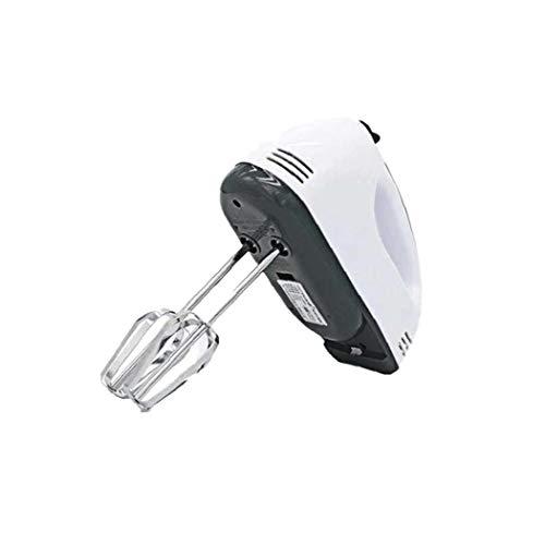 Eléctrica batidor de huevo de 7 velocidades mezclador eléctrico portátil manual batidor de huevo de mano eléctrico batidor de huevo Cocina eléctrica de acero inoxidable mezclador de color blanco