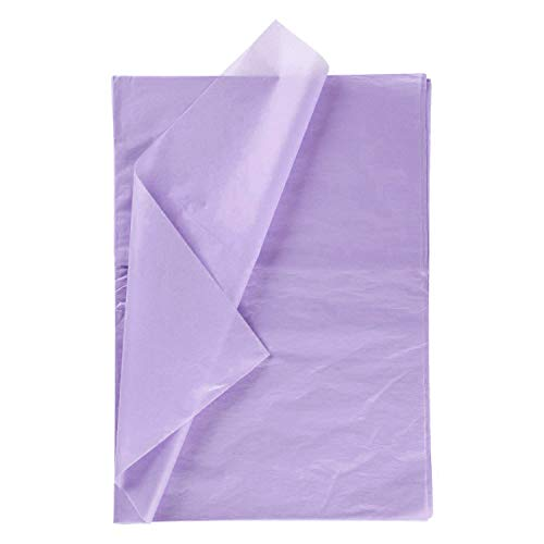 RUSPEPA Geschenkpapier Seidenpapier - lila Seidenpapier für Heimarbeit Bastelarbeit Geschenkverpackung – 50 x 70 cm – 25 Blatt