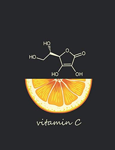 vitamin C : modecule chemistry notebook -140 pages- Organic Chemistry & Biochemistry NoteBook: lined notebook to gift