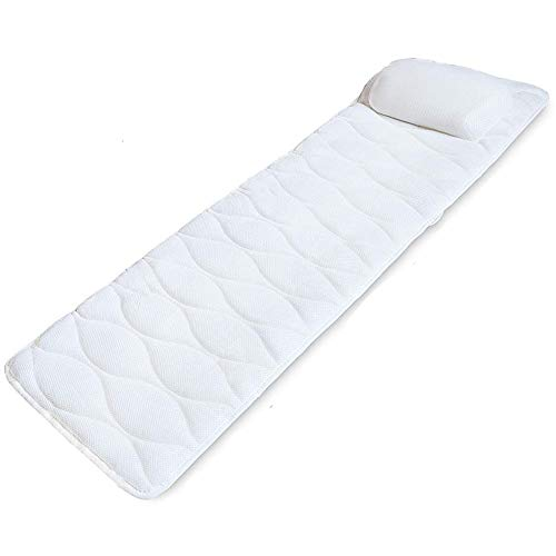 Full Body Bath Pillow for tub with Mesh Washing Bag & 17 Non-Slip Suction Cups, Spa Bathtub Pillow for Head Neck Shoulder and Back Support - 3D Air Mesh & Quick Drying