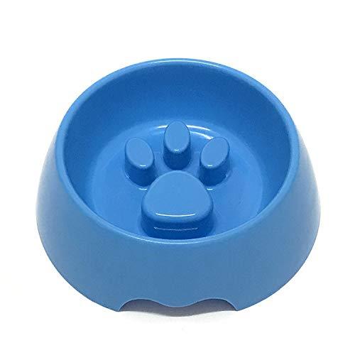 YANGWEIPet Bowl Dog Footprint Slow Food Anti-Choking-Schüssel Umweltfreundliche Plastik-Dog Bowl Cat Bowl