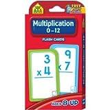 School Zone Bulk Buy (3-Pack) Flash Cards Multiplication 0 12 55 Pack SZFLC-4008