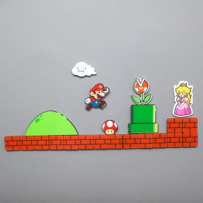 Wanz 17/22/28/29 Pcs Super Mario KühlschrankMagnete KühlschrankJapan Cartoon Gaming CartoonEisboxPaster Icebox Aufkleber, 22 STK