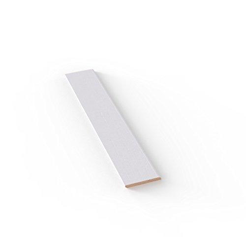 Battiscopa Stile Moderno In Vero Legno Tanganika Tinto Bianco mm 10x70