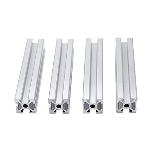 XU-XINGFU XXF-lc, 4pcs/lot 2020 Aluminum Profile Extrusion 300mm Length Linear Rail 400mm 500mm 600mm For DIY 3D Printer Workbench CNC (Size : 400mm)