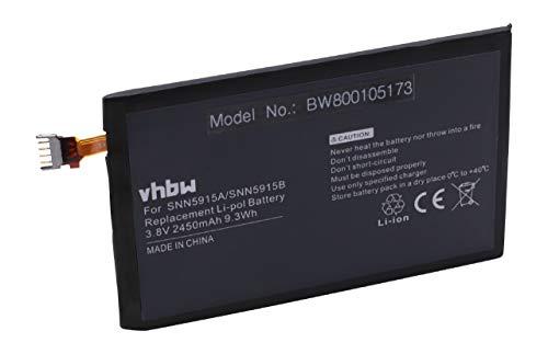 vhbw Akku 2450mAh (3.8V) für Telefon Smartphone Handy Motorola Droid RAZR MAXX, Droid RAZR MAXX HD 4G, XT925, XT926 wie EV30, SNN5915A, SNN5915B.