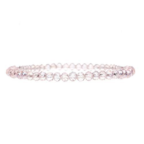 KT-Schmuckdesign Perlenarmband mit hochwertigen Kunststoffperlen in rosa