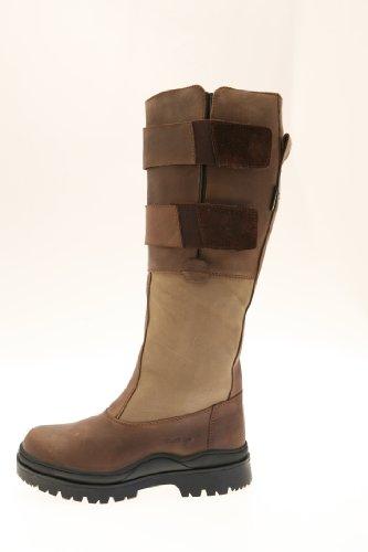 Suffolk leren laarzen met brede schacht.