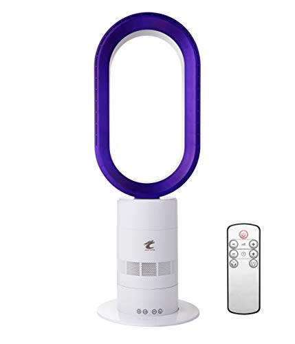 Ocean Loong AB01 Bladeless Cool Tower Fan 16 Inch with Remote Control