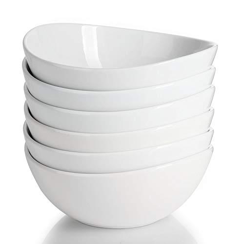 Sweese 103.001 Suppenschale 6er Set aus Porzellan, Füllmenge 800 ml, Müslischale, Snackschale, Salatschale