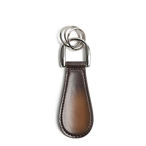 Zavddy Calzador de Madera Calzador de Piel es fácil de Llevar y fácil de Usar Colgando Colgante 11.5x4x0.6cm Cuernos de Zapato de Metal (Color : Marrón, Size : 11.5x4x0.6cm)