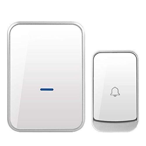 WMMCM draadloze deurbel waterdicht, deurbelset met 45 chimes en 4 van het volume van een smart deurbel afstandsbediening voor oudere patiënten, zwart