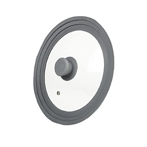 Universale Pan coperchio in vetro temperato Rim silicone 9,5 inch 10inch 11inch per Pot Casseruola Steam Vent in lavastoviglie coperchio grigio per la cucina