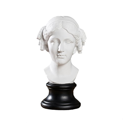 YIGEYI Sharon Sculpture Tête Portrait Résine Artisanat Personnage Croquis Modèle Maison Décorations De Bureau Sculptures Décoratives