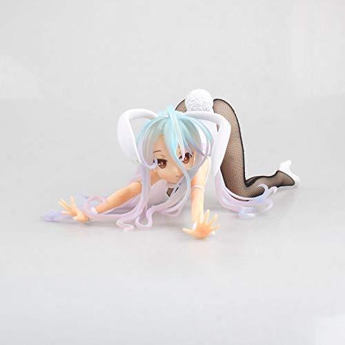 Liiokiy 12 cm Figura de acción Sin Juego No Life Anime Shiro Anime Figura Collectable Figura Decoración Arte Games de Regalo Anime Animación Modelo Modelo Hecho A Mano Modelo Juguetes En Caja