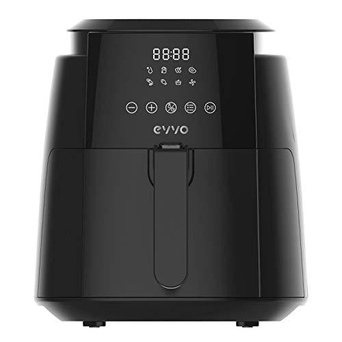 EVVO Freidora sin aceite Tasty Fryer - 1500W, Tecnología Dual Cyclone, Multifunción , hasta 200º,...