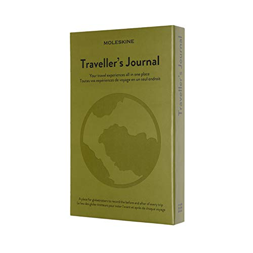Moleskine - Travel Journal, Theme Notebook - Hardcover Notebook to Organise and Remember Your Travels - Large Size 13 x 21 cm - 400 Pages