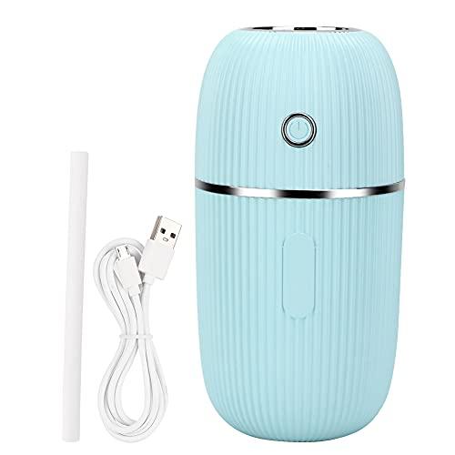 Humidificador portátil de aromaterapia, modo de pulverización continua e intermitente, trabajo silencioso, humidificación sin molestar, diseño de reducción de ruido reflexivo(azul)