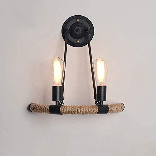 Yanqing Wandlamp, eenvoudig te installeren, American Retro, hennep, touw, wandlamp, loft, hal, wind, industrial, Aisle bed, creatief, ijzer, wandlamp, verlicht je leven